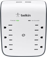 Belkin 6-Outlet Surge Protector w USB Wall Mount (2)