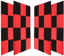 Black & Red Acoustic Panels